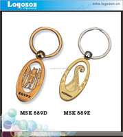 Newest Promotional Egypt Souvenirs Custom Logo Gold Metal Key Chain