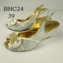 BHC24 Queency 2017 Fashion Girls Dress Shoes Leather Ladies Sexy High Heel Shoes for Party