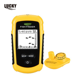 Lucky portable fishfinder FFW1108-1 hot sale wireless color fish finder sonar for outdoor sport
