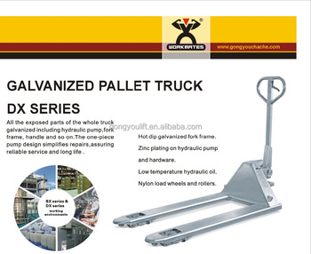 Stainless steel / Galvanized pallet truck with CE