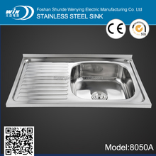 WY-8050A factory discount stainless sinks for resturant kitchen equipment with big bowl and polished surface