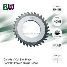 Tungsten Carbide V Cut Saw Blade For PCB Printed Circuit Board