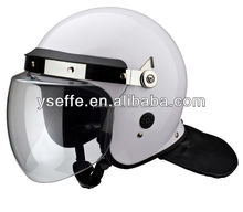 anti riot police helmet with full face shield and neck protector