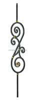 Elegant Decorative interior iron stair baluster used on stair case