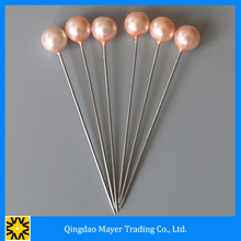 Professional Colorful Pearl Ball Head Straight Pins