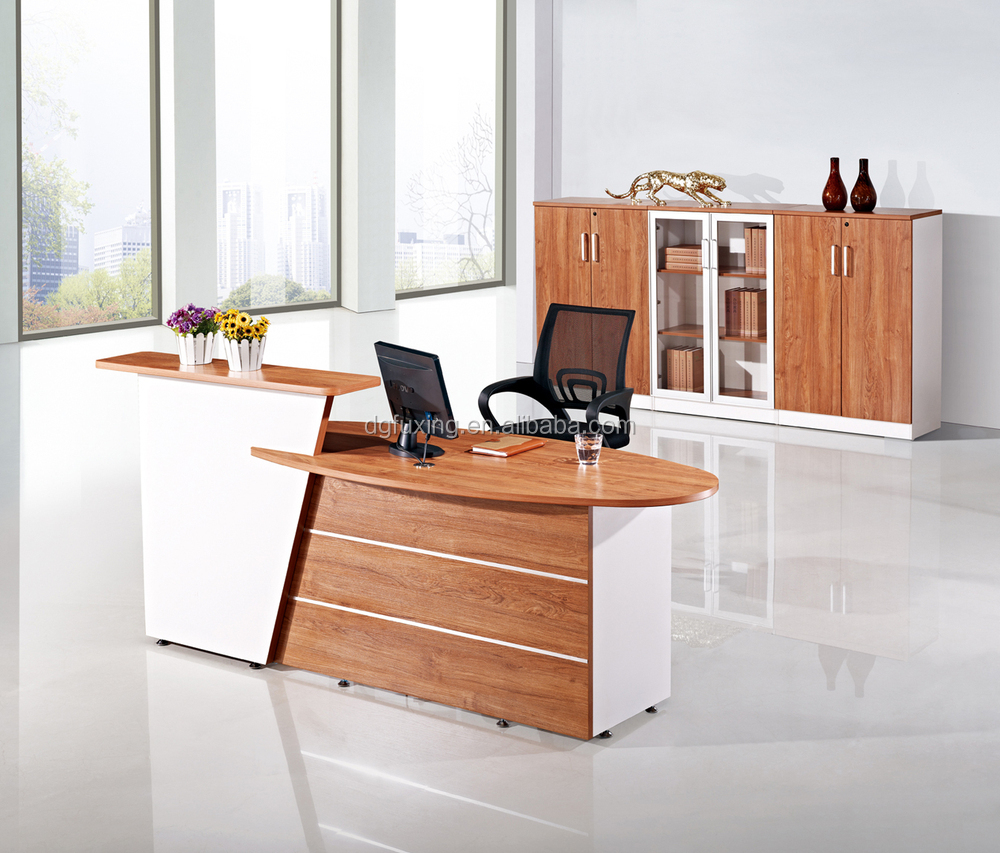 New design and fashion office furniture wooden reception for Table design for office