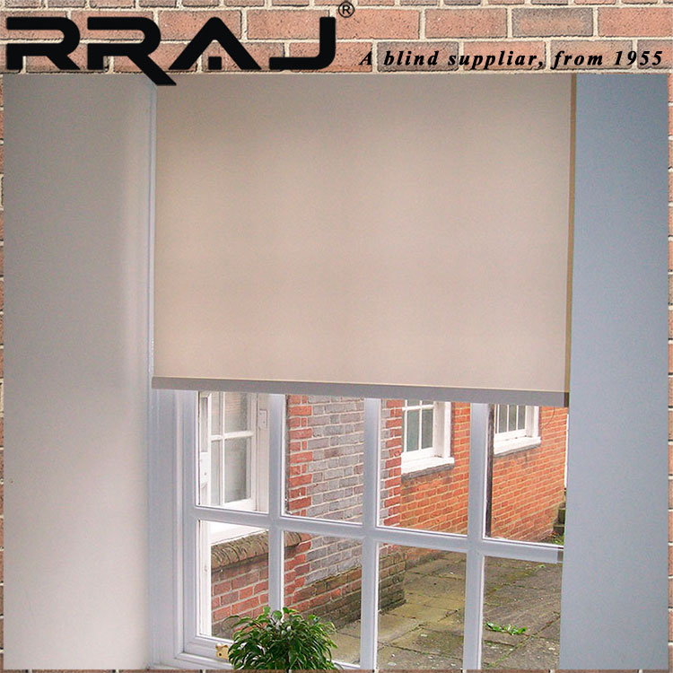 RRAJ Electric Blackout Window Blinds and Curtain Window Coverings