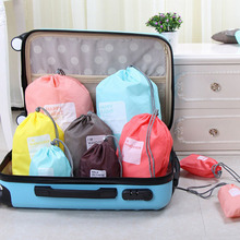Lucky bag travel storage bag Polyester cubic organizer 4pcs/set