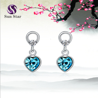 925 sterling silver individuality long earring Fashion crystal