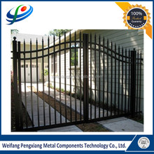 2015 strong practical assembled powder coated profile fence and gate aluminum