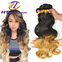 7A Ombre Malaysian Hair Body Wave 1B/27 Natural Black Blonde Malaysian Virgin Hair Ombre Body Wave 1pcs Ombre Human Hair