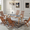 Outdoor Dining Table Set Teak Wood