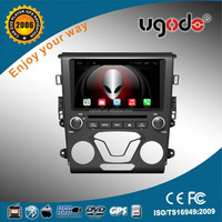 ugode 9 inch double din car dvd player for ford mondeo with GPS wirror link, steering wheel control