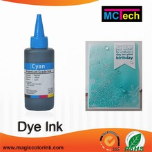 100ml printing ink dye ink for brother dcp t700w in ink refill kits for plastic film and tinplate