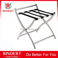 New products stainless steel hotel luxury luggage rack