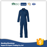 Hot sale navy and blue elasticated waist women work safety coverall