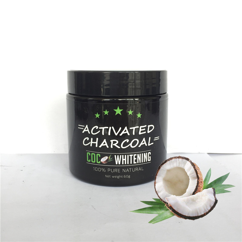 natural organic coconut shell based powder activated charcoal for teeth whitening