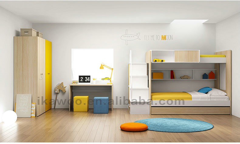 Ikawoo ikazz home Use Cheap Modern Bunk Beds For Kids For