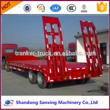 New condition hot sale Chinese manufacture transport bulk cargo well selling flatbed semi trailer