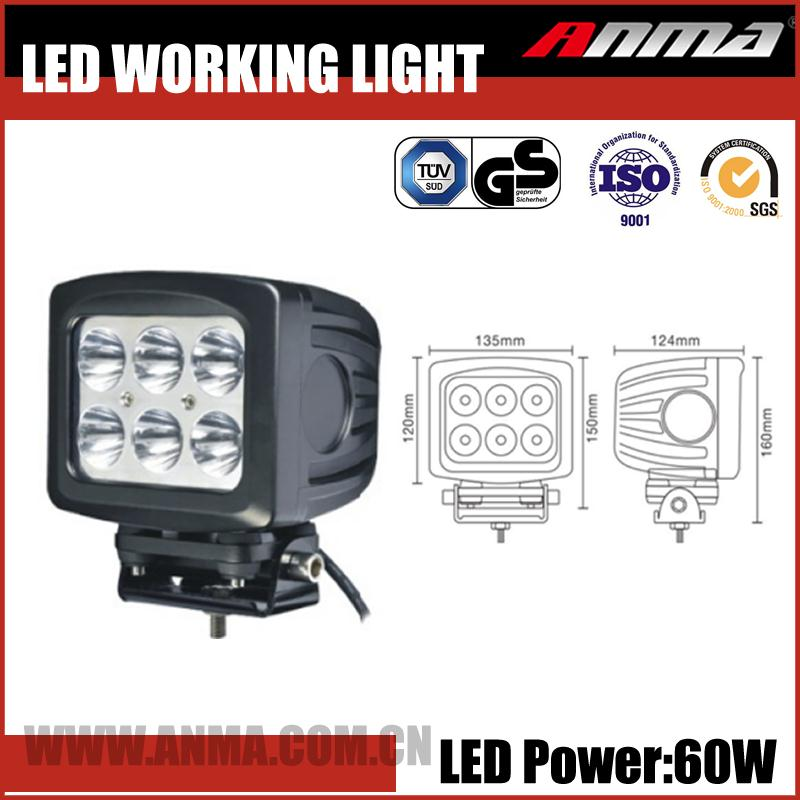 Wholesale rechargeable driving light jeep suv 4x4 truck 12V LED work lights