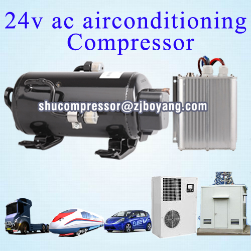 dc 12/24volt a/c compressor cool the sleeper cabs vehicle of dc 12/24v hvac for cabin of tractor