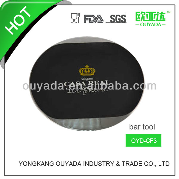 34.8cm color rubber painted barware stainless steel mess tray