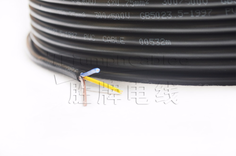 lamp cord wire 2 core or 3 core cable 0.5mm 0.75mm
