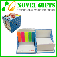 Promotion Sticky Memo Note Pad Box with Pen Holder