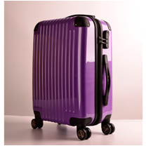 suitcase type and ABS material 3 piece trolley luggage set