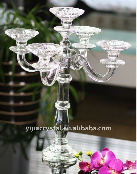 crystal candleholder church candelabras