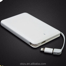 2017 hot model high quanlity portable power bank 4000/5000mAh,wholesale custom power bank