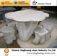 White Garden Stone Table And Stools Granite Table And Stools