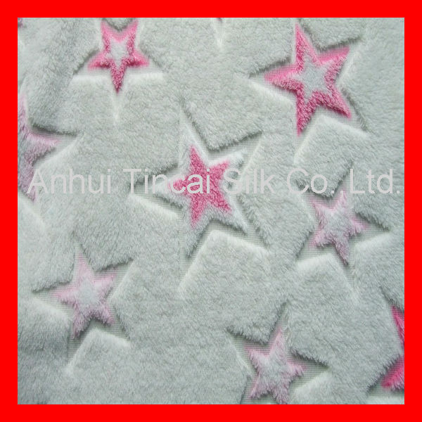 Polyester 3D Jacquard Fleece With Star Design