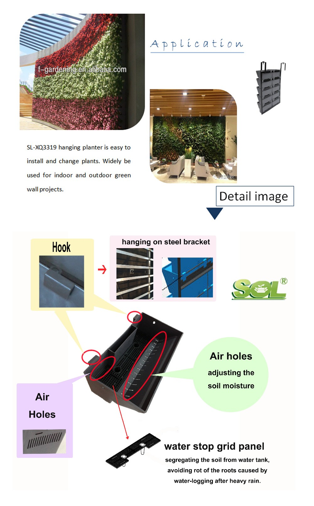 Home garden hydroponic growing systems vertical green for Wall garden system