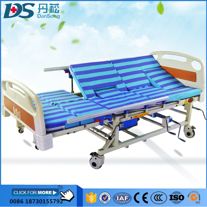 Disposable 3 cranks manual hospital bed / hospital bed manual