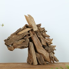 Artistic and Gorgeous Driftwood Horse Head Decor, Horse Statue Beach Style Decorative