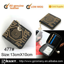 short wallets women embroider leather wallets top design high quality wallets factory outlet
