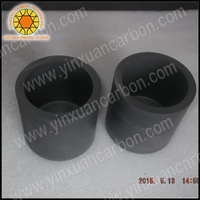 melting used graphite crucible carbon container