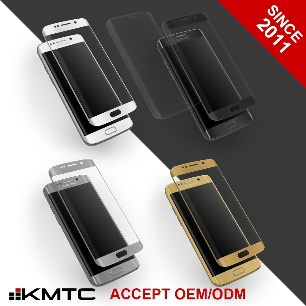 KMTC 3D Round-edge AF Treatment Screen Protector Cleaner For Samsung S7 & S7 Edge
