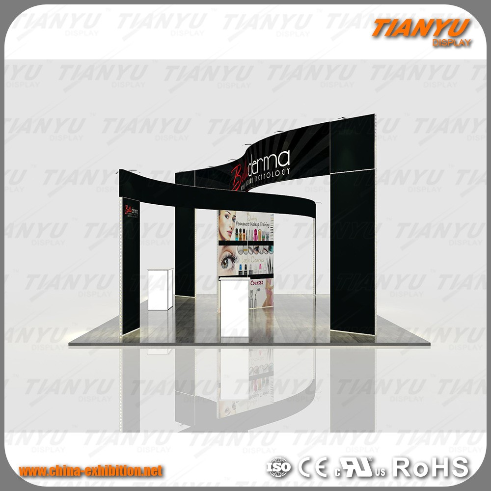 2017 Modern elegant exhibition stage display for indoor exhibition fair