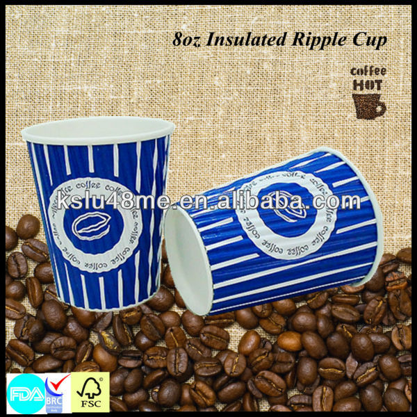 8oz Ripple Paper Pick Your Nose Paper Cup
