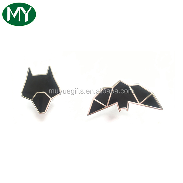 Iron stamped silver metal hard enamel lapel pins from manufacturers in china