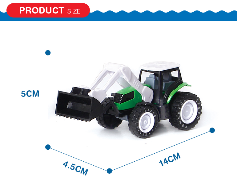 Alloy engineering utility vehicle model farmers truck pull back toy tractor for children