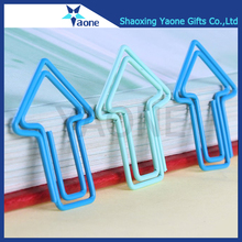 Office school supplier book holder metal hanging custom shaped arrow paper clip