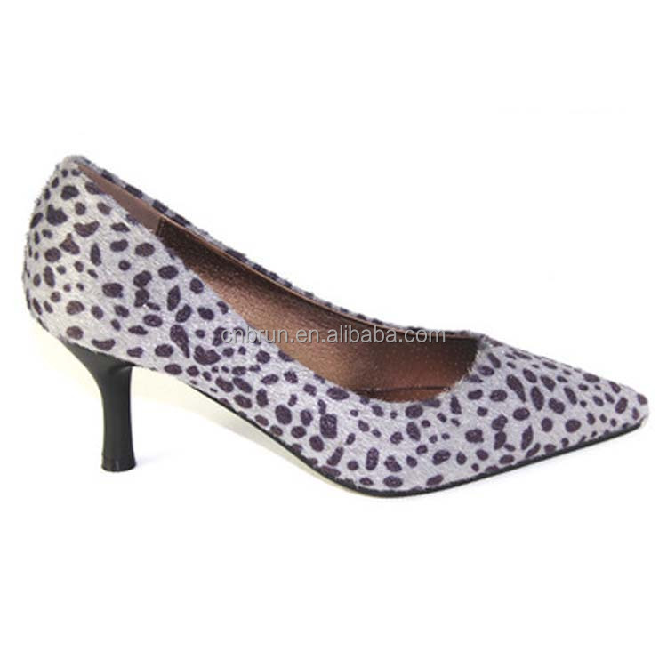 Women fashion leopard kitten evening dress heels shoes