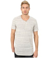 Men's short sleeve 65 polyester 35 cotton stripe contrast neck 65 polyester 35 cotton t shirt