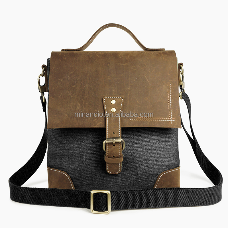 2017 new design shoulder bag weekend bag leather canvas bag