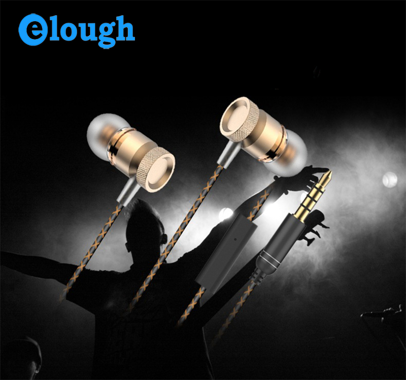 Elough Wholesale Factory Price phone accessories mobile Earphone Metal High Quality Headphone