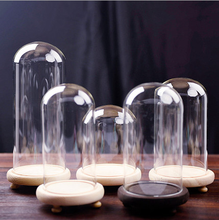 Wholesale glass Cloche Bell Jar For Flower Store