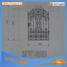High Quality High Security Fence Design for Industrial Zone wrought iron gate/steel fence/palisade fencing
